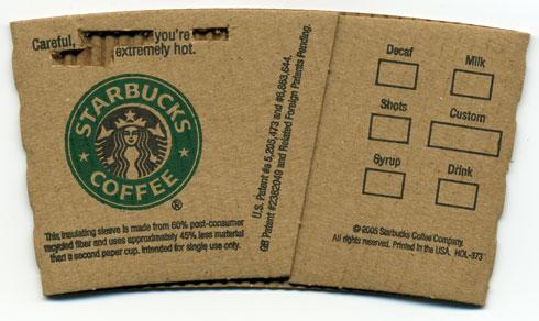 Starbucks Sleeve