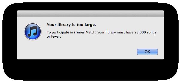 iTunes Match Fail