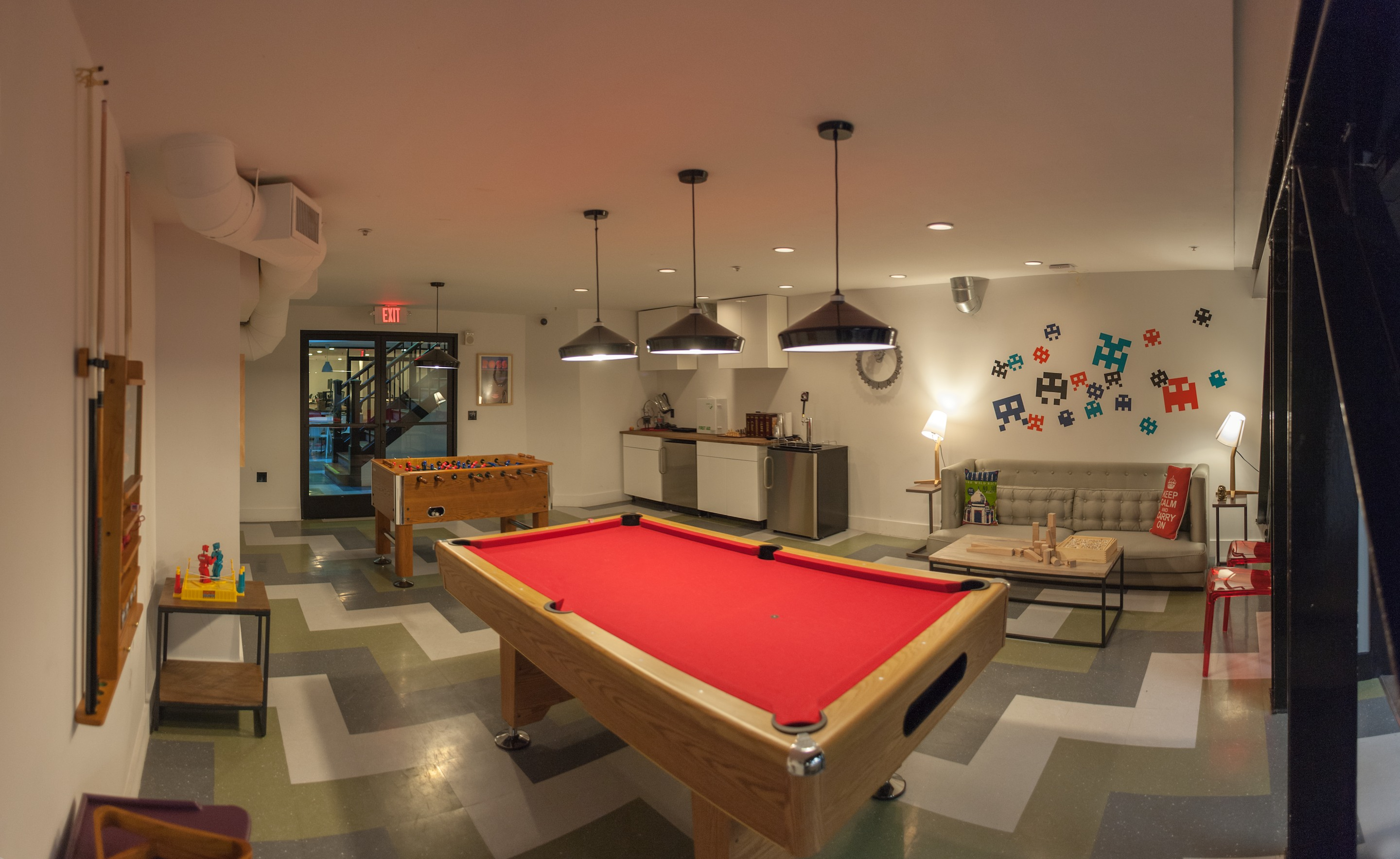 Wework Lounge Pool Table Foosball And Beer 2 It S Just