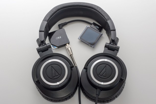 AudioTechnica ATH M50 with FiiO E6 and Apple Nano