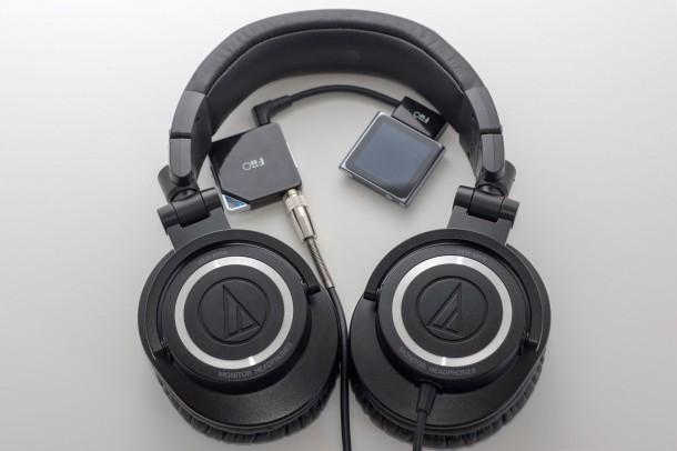 AudioTechnica ATH M50 with FiiO E6 and Apple Nano