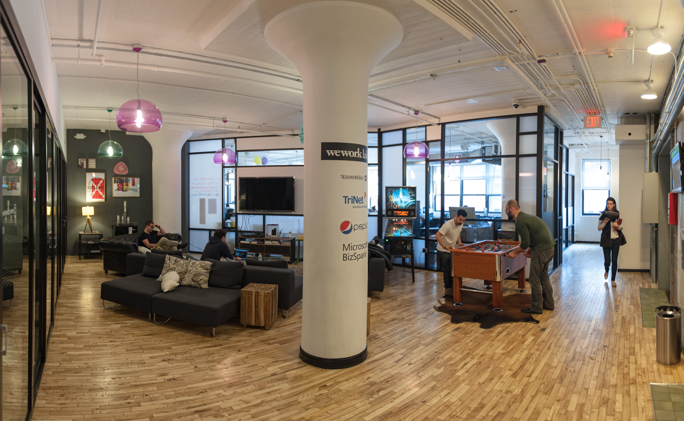 WeWork SoHo West Game Lounge Its Just Justin