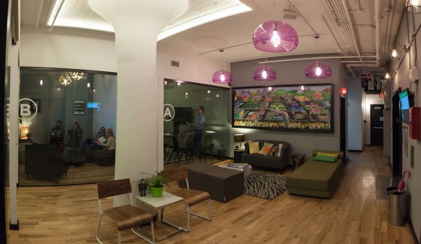 WeWork SoHo West Simpson's Art Lobby